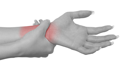Acute pain in a woman wrist