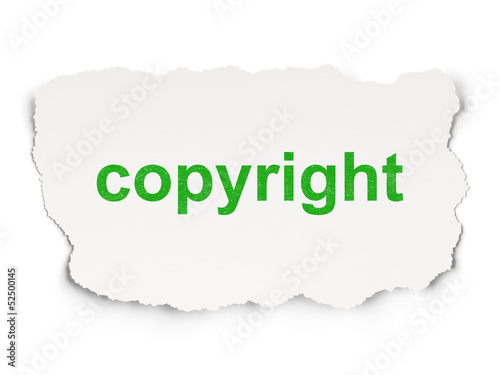 Advertising concept: Copyright on Paper background