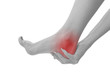 Acute pain in a woman ankle