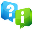 Speech Bubbles Question & Information Blue/Green