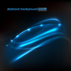 background with abstract flowing lines of blue light