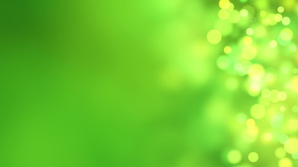 loopable abstract background green bokeh circles