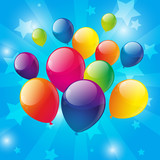 Birthday background with color balloons