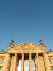 Berliner Reichstag mit Textfreiraum