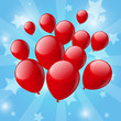 Red balloon background
