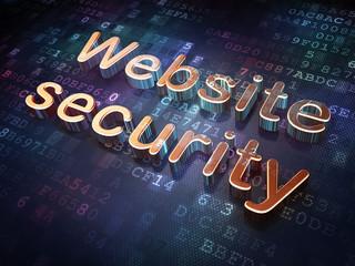 Privacy concept: Golden Website Security on digital background