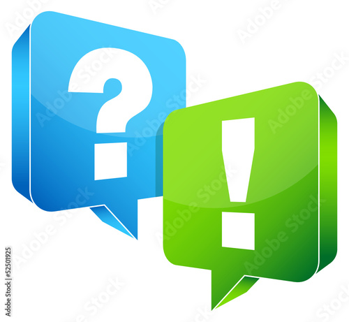 Speech Bubbles Question & Answer Blue/Green