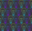 Vector Light bulb seamless pattern