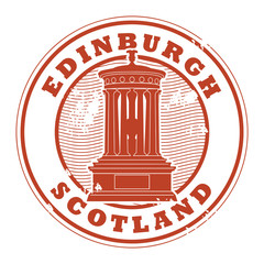 Stamp with the name of Edinburgh, Scotland written inside