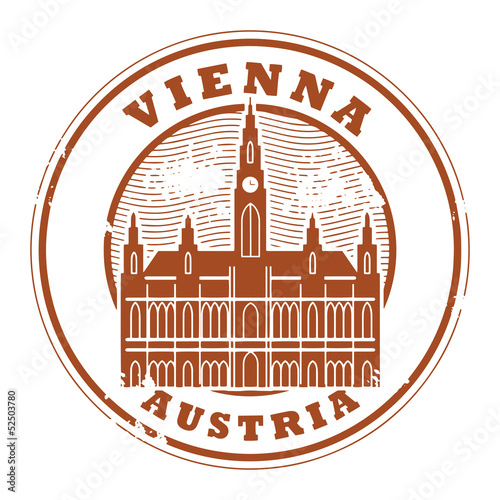 Grunge rubber stamp with words Vienna, Austria inside, vector
