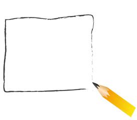 mozzicone di matita nera disegna una cornice