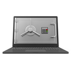 Laptop Security and Protection Concept