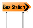 Bus station sign.