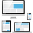responsive web design mobile computer notebook devices vector