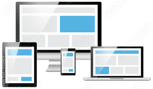 responsive web design electronic devices vector