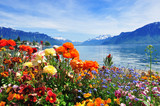 flowers, mountains ald lake - Fine Art prints