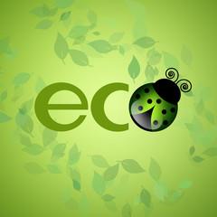 eco symbol with ladybug