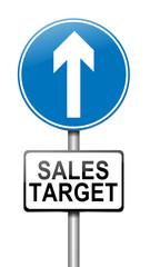 Sales target concept.