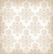 Seamless floral retro pattern.