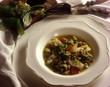 Zuppa di baccalˆ con lenticchie e cime di rapa