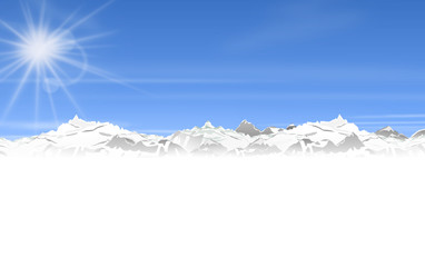 Berge Winter Sonne Skyline