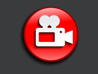 abstract glossy camcorder icon