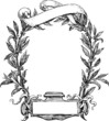 frame of laurel and ribbon