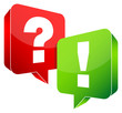 Speech Bubbles Question & Answer Red/Green