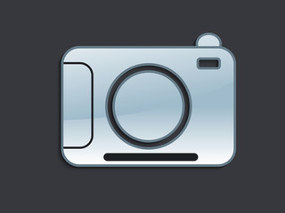 abstract glossy camera icon