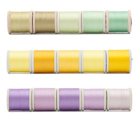 Three horizontal borders of sewing threads