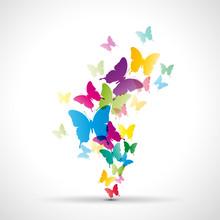 Abstract butterflies background # Vector