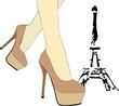 Una donna cammina a Parigi