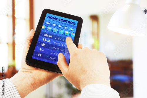 home control on the tablet pc