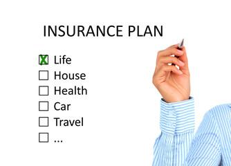 Insurance plan.