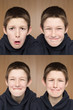 One boy many faces