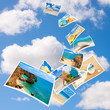 canvas print picture - Tourism Postcards