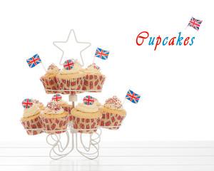 Union Jack Cupcakes