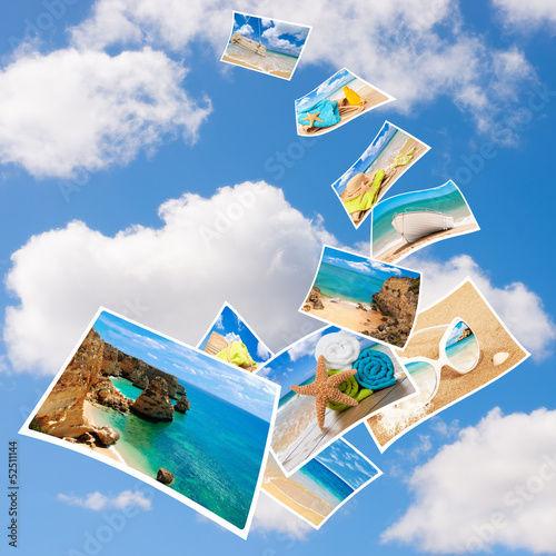 canvas print picture Tourism Postcards