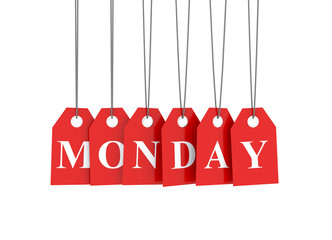 Monday discount red etiquettes