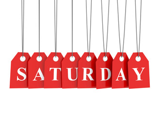 Saturday discount red etiquettes