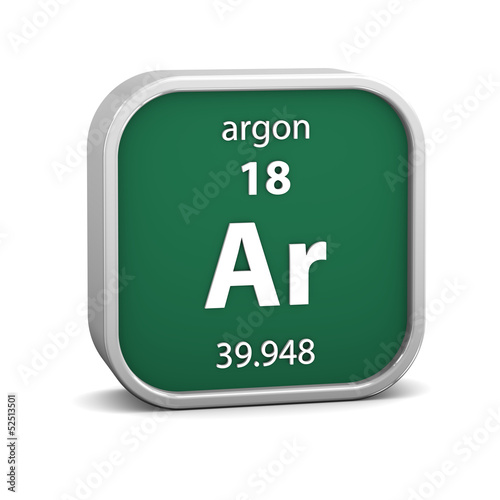 Argon material sign