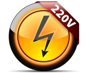 220V High voltage sign