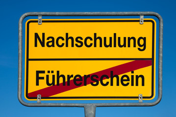 Wechselschild FÜHRERSCHEIN - NACHSCHULUNG