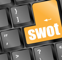 SWOT word on computer keyboard button