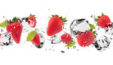 Fototapety Ice fruit on white background