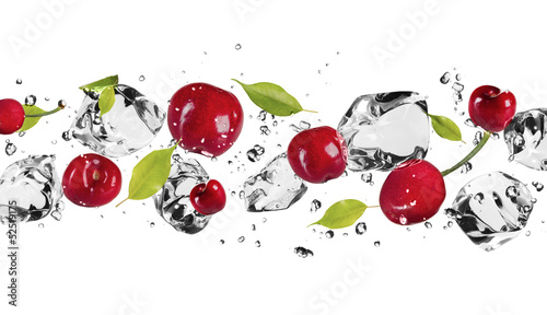 Ice fruit on white background - 52519175