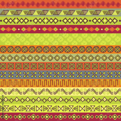 Ethnic strips in various motifs and colors