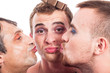 Cute transvestites kissing