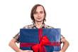 Man holding big gift box
