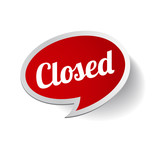 Closed Sign - Closed retail store red vector illustration symbol